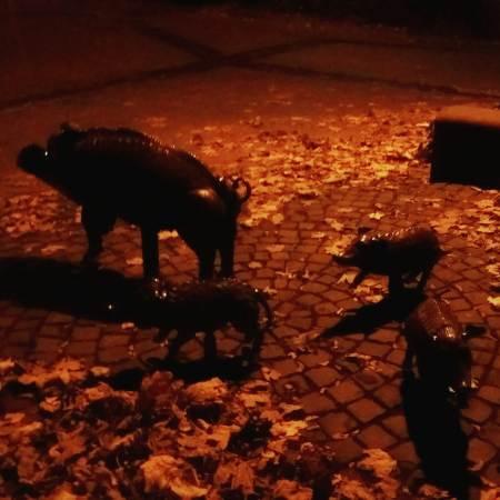 Foto von Schweine-Skulpturen